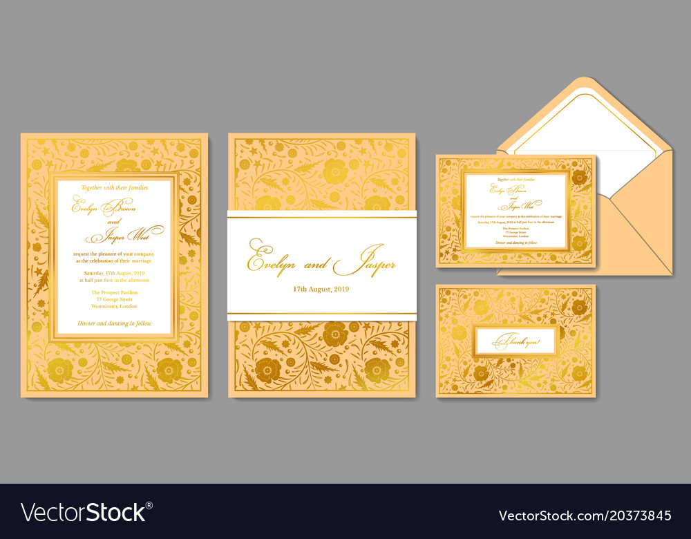 wedding invite envelope rsvp holiday card vector image