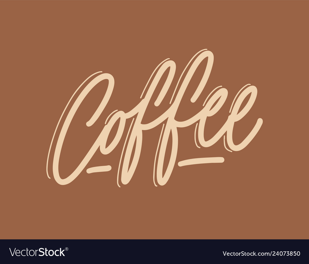 Coffee word handwritten with elegant cursive