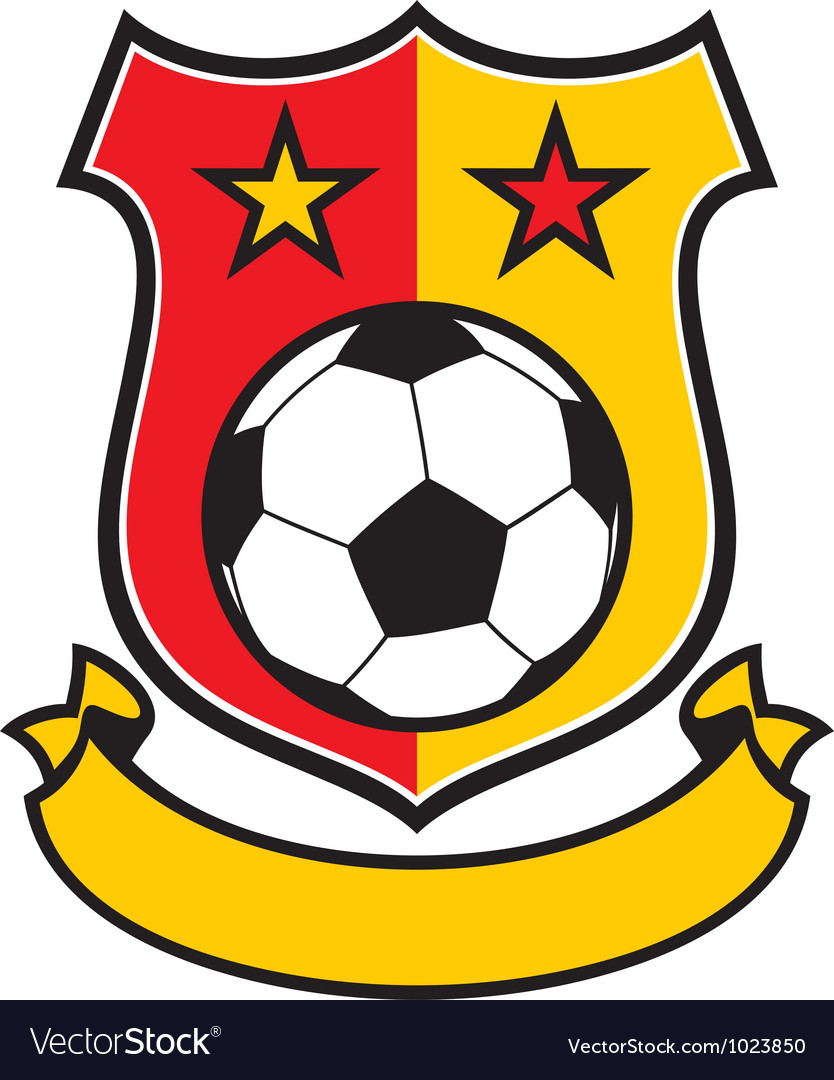 Football club shield vector image