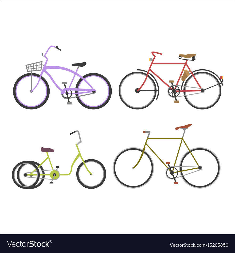 Hipster bicycle flat