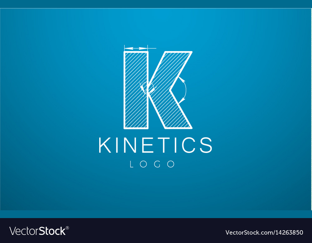Logo template letter k in the style of a