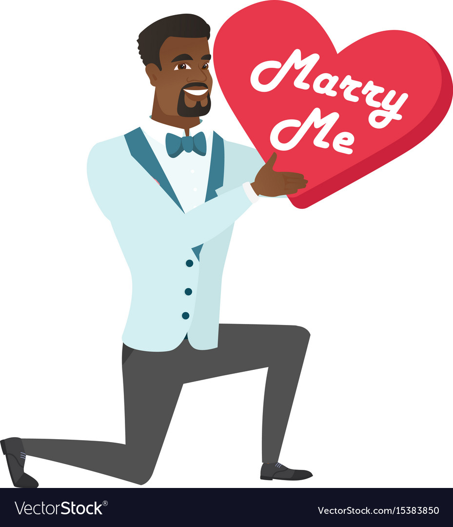 Man making a marriage proposal vector image