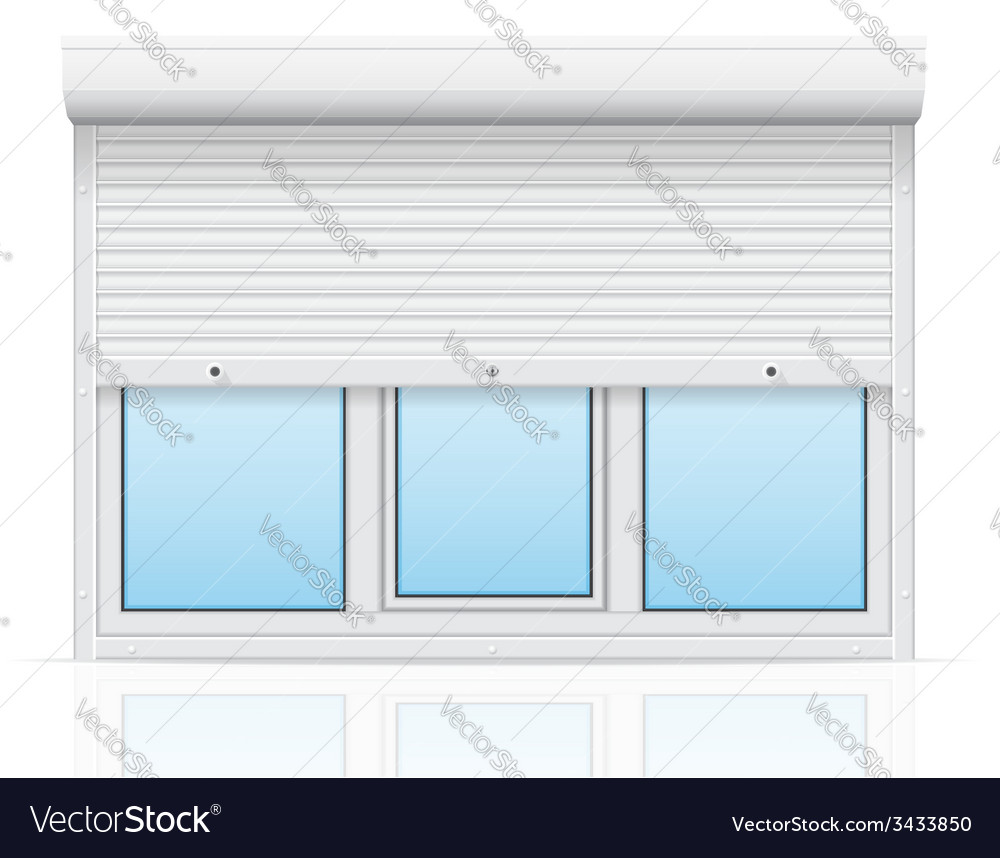 Plastic window with rolling shutters 04