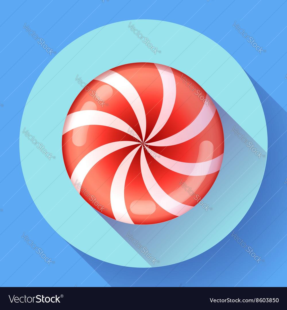 Sweet lollipop candie icon Flat design style