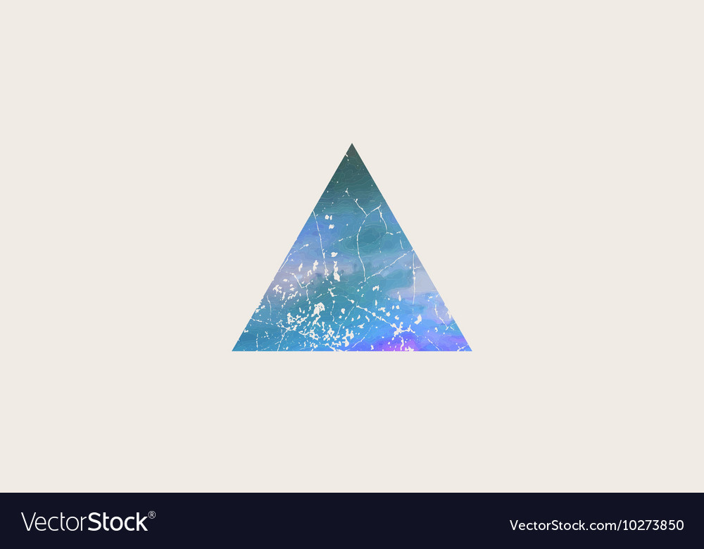 Triangle logo design grunge triangle beautiful