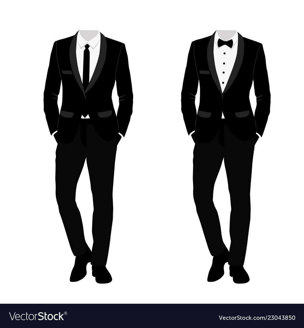 Wedding Mens Suit And Tuxedo Collection Royalty Free Vector