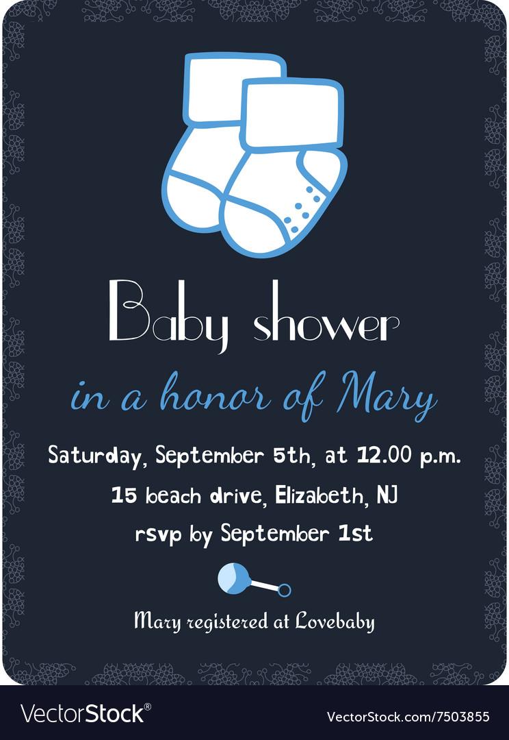 Baby shower invitation card template Invitation