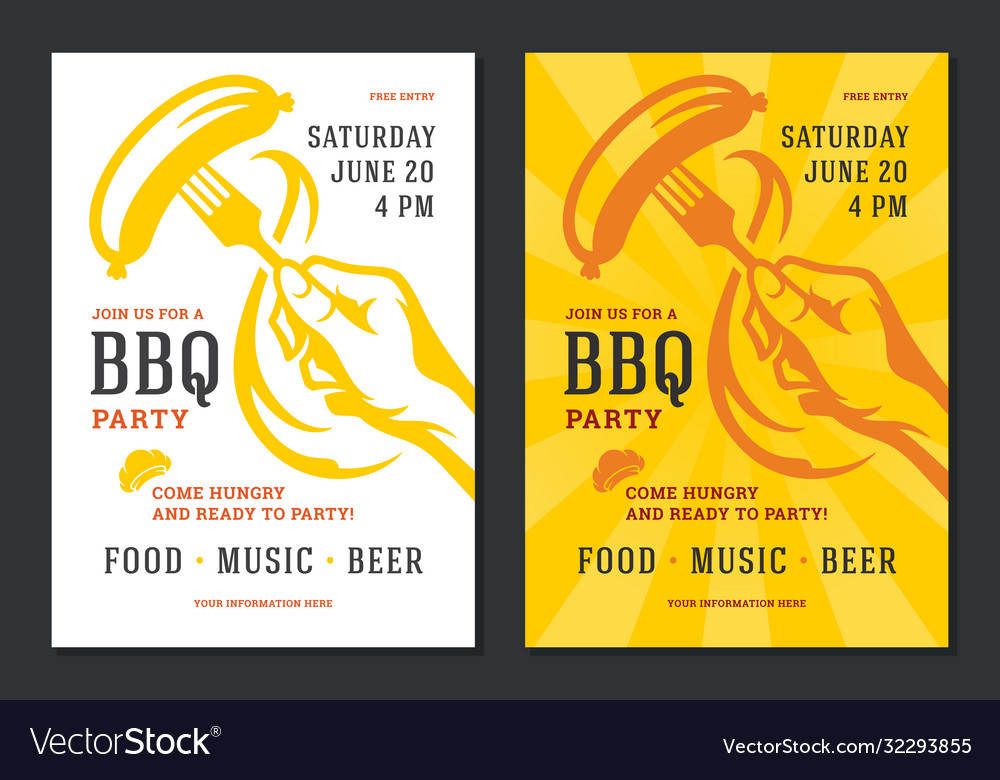 Barbecue party flyer or poster design