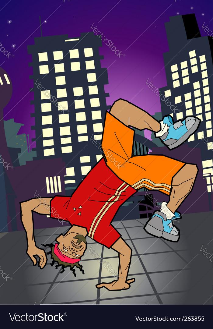Break-dancer illustration vector image