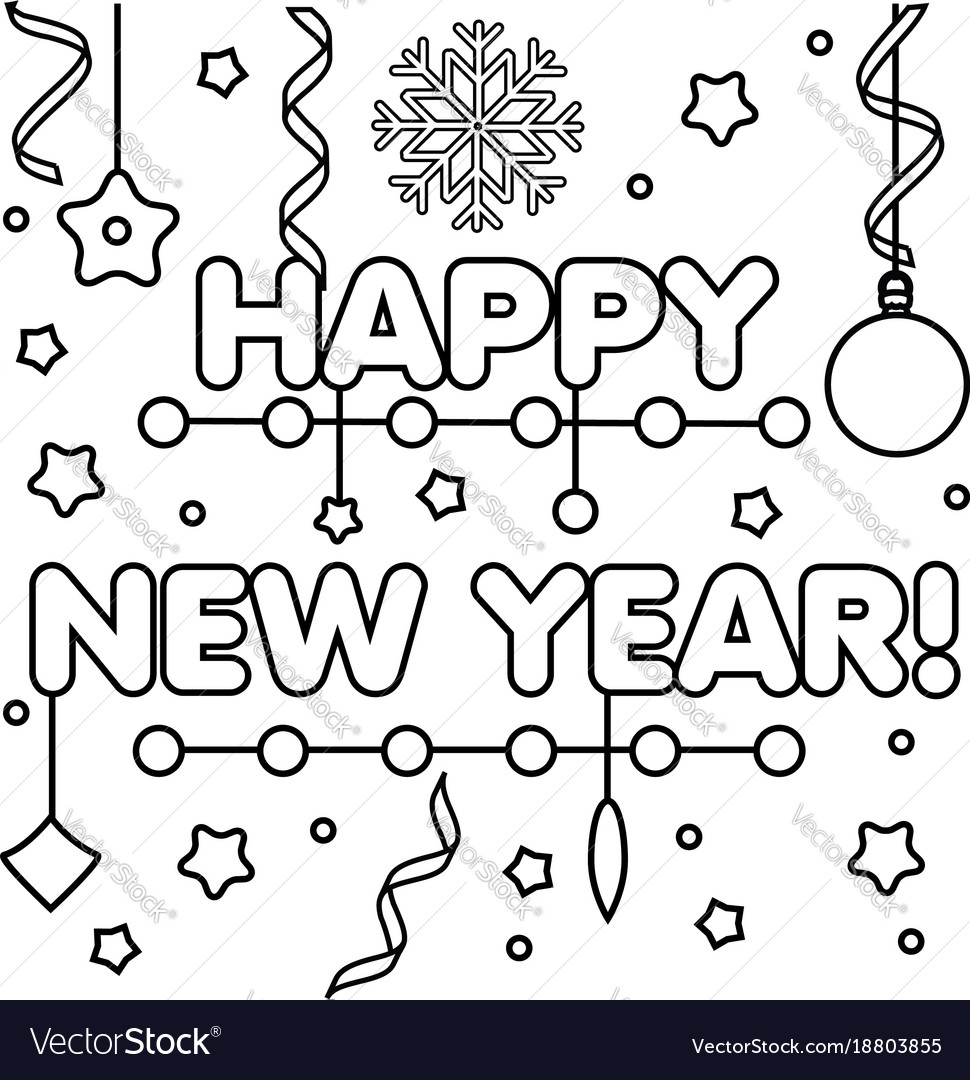 Happy New Year Drawing 8