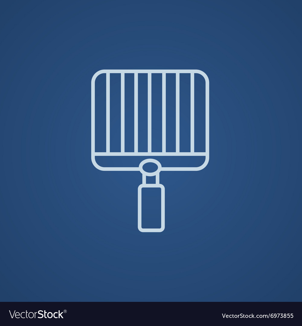 Empty barbecue grill grate line icon