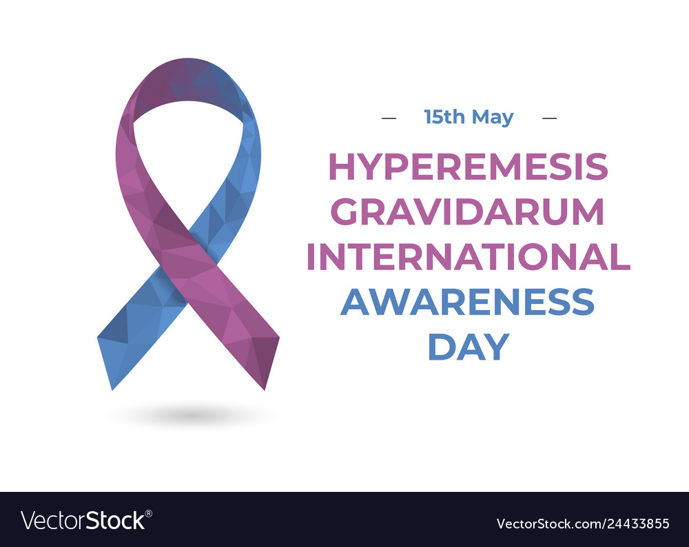 Hyperemesis Gravidarum Pink And Blue Ribbon Web