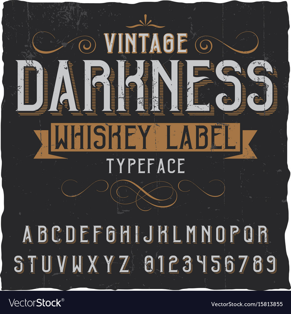 Vintage darkness whiskey poster