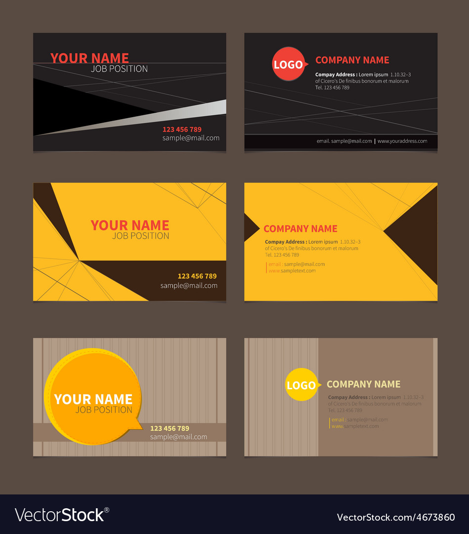 Business Name card set 2
