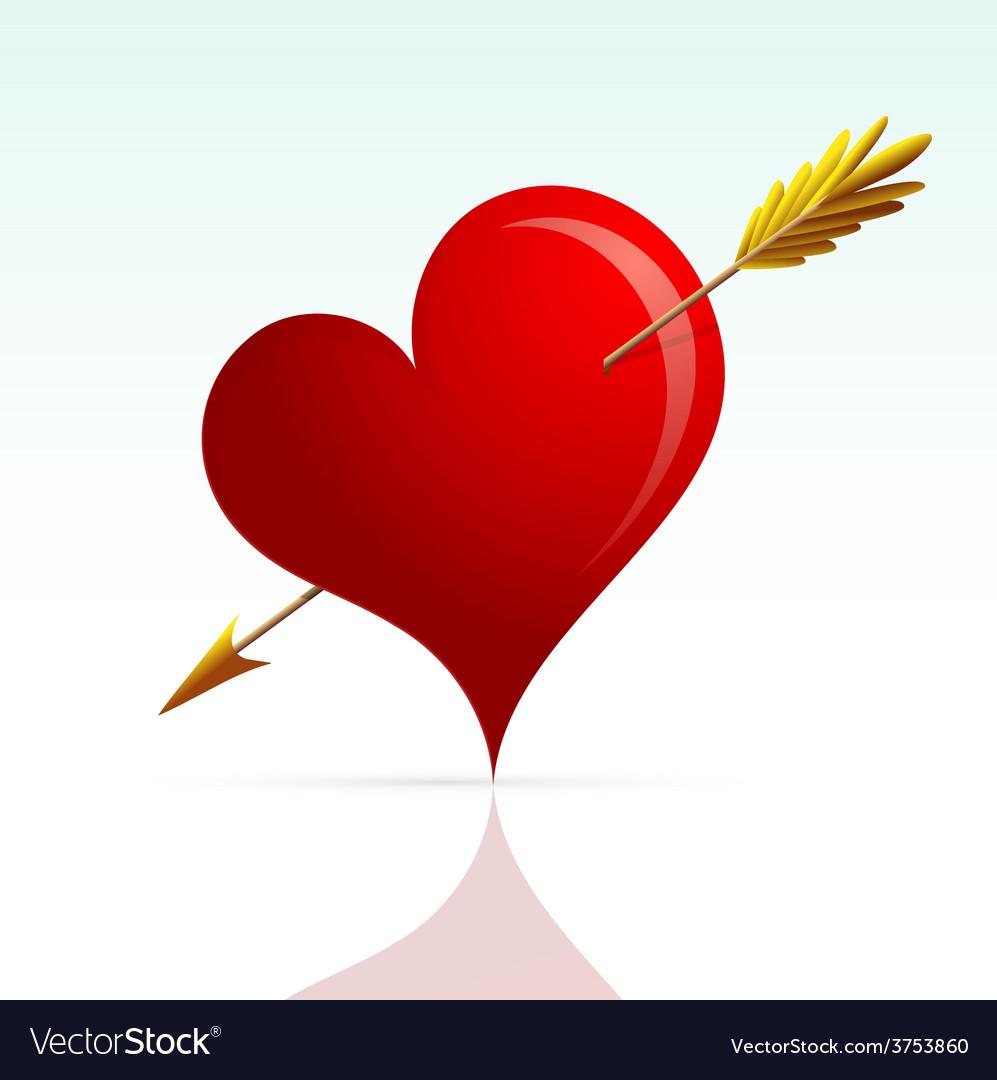 Heart shape with arrow
