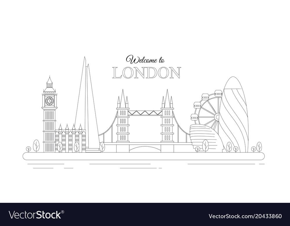 Line design london concept