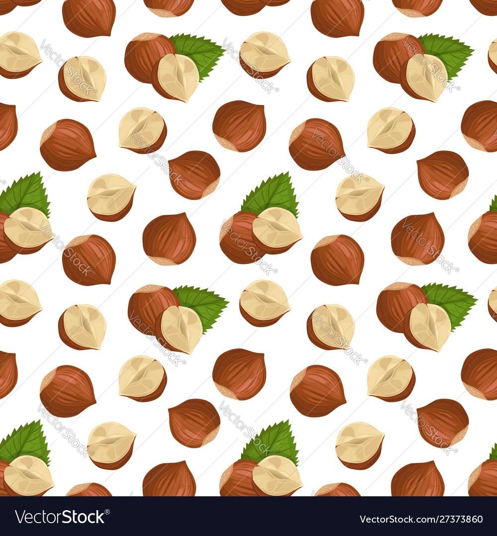 Pattern with hazelnut
