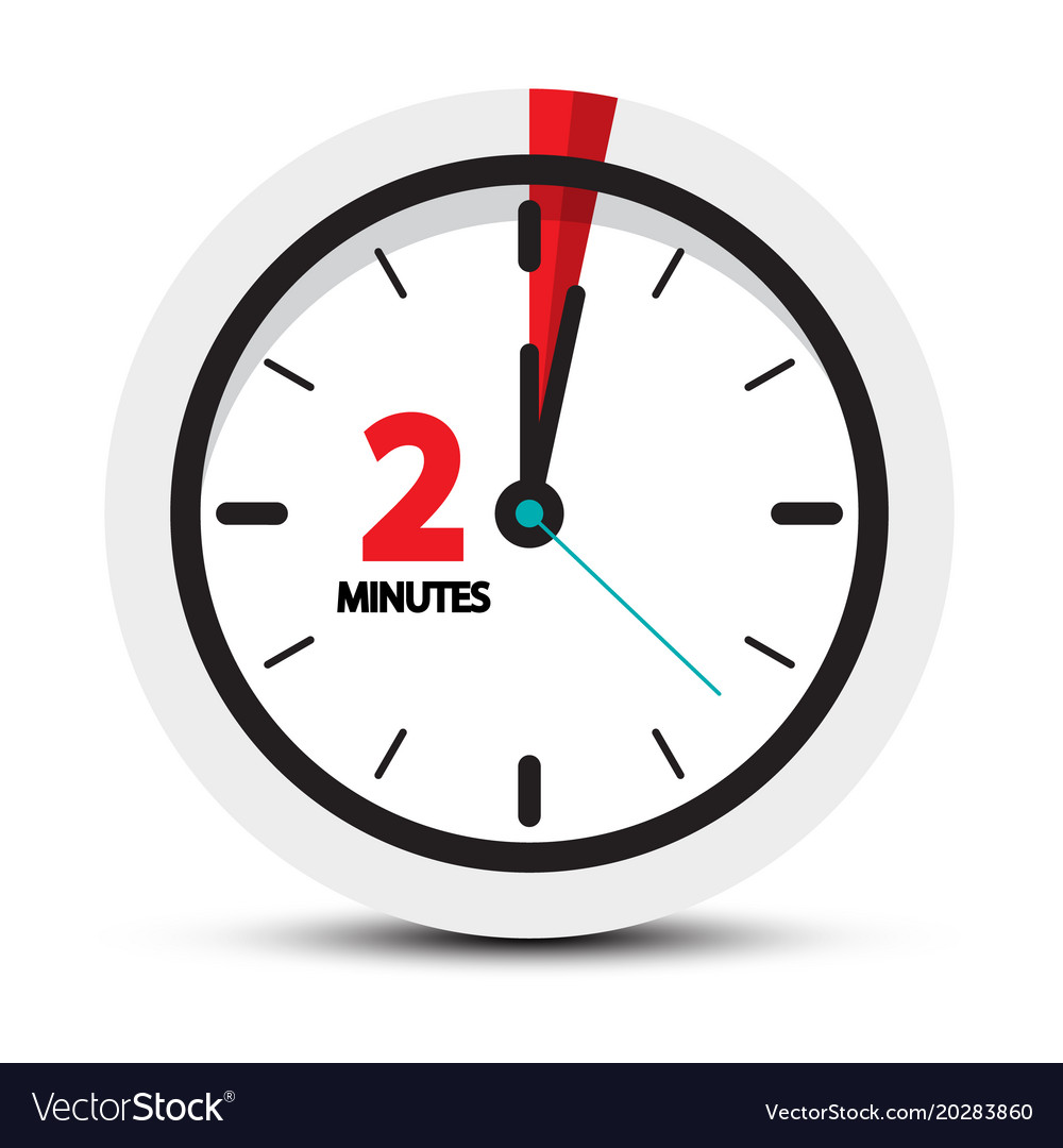 Two minutes clock symbol 2 minute icon