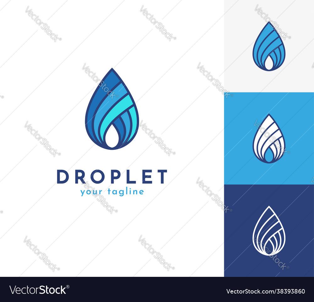 Water drop logo icon symbol