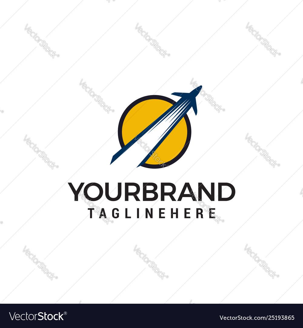 Airplane logo design concept template