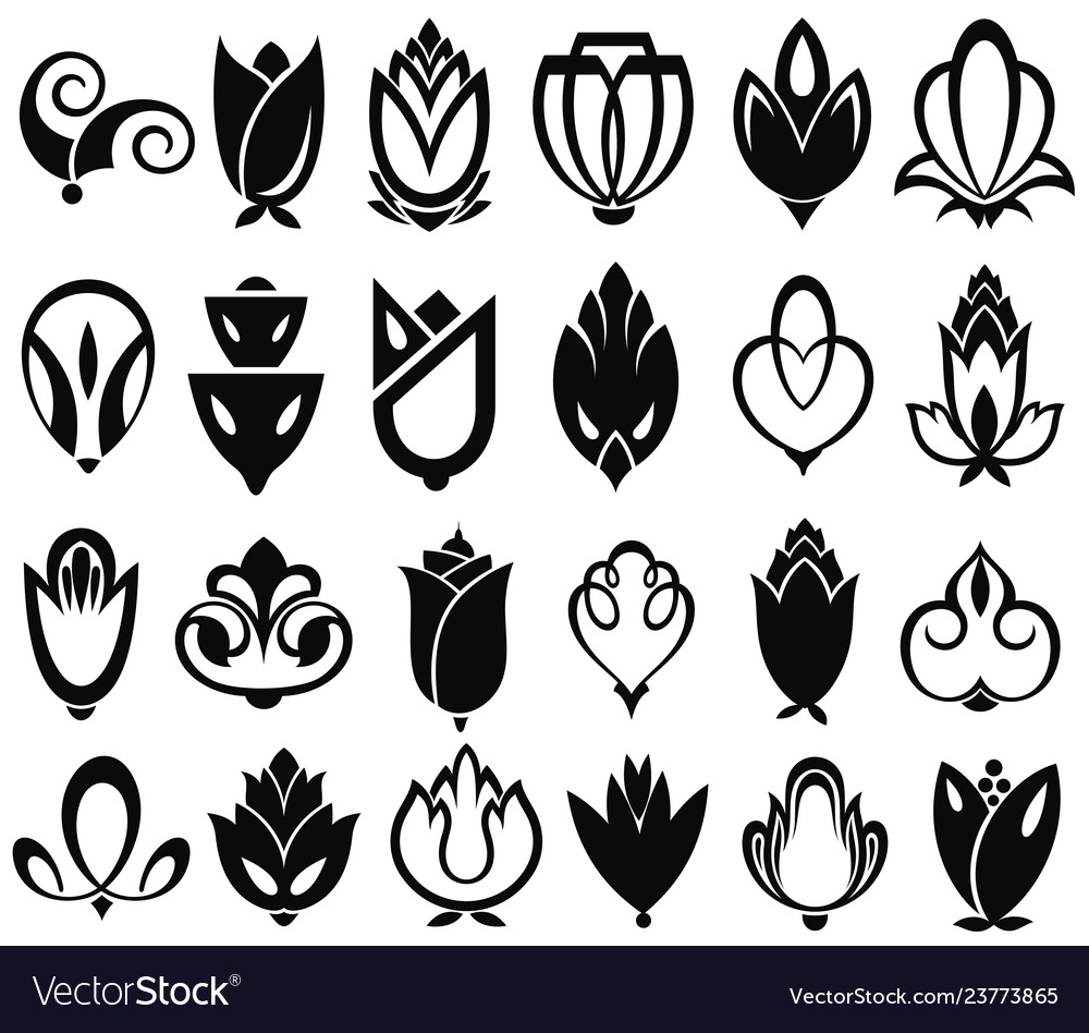 Collection of petal elements