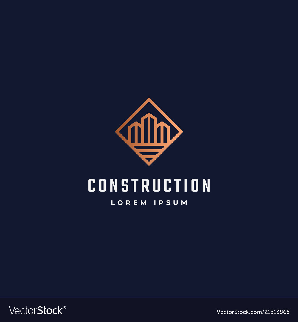 Construction abstract sign symbol or logo