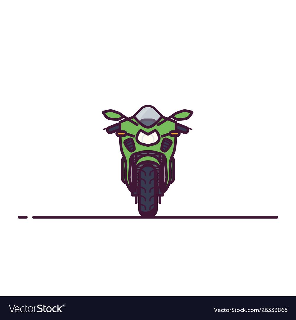 Modern sport bike line style