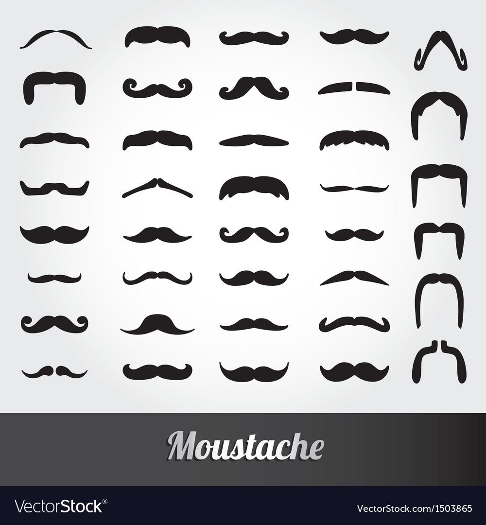 Set mustache