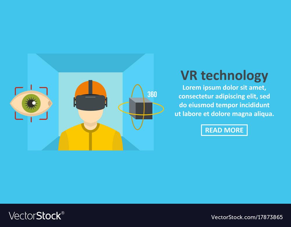 Vr technology banner horizontal concept