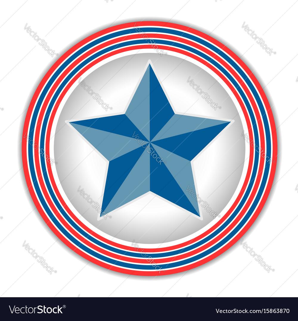 American star icon logo symbol