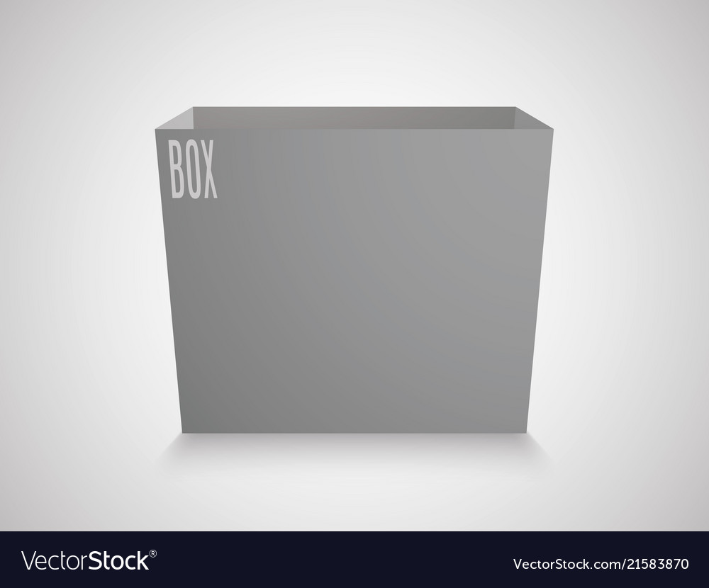 Blank gray cube on white background 3d box