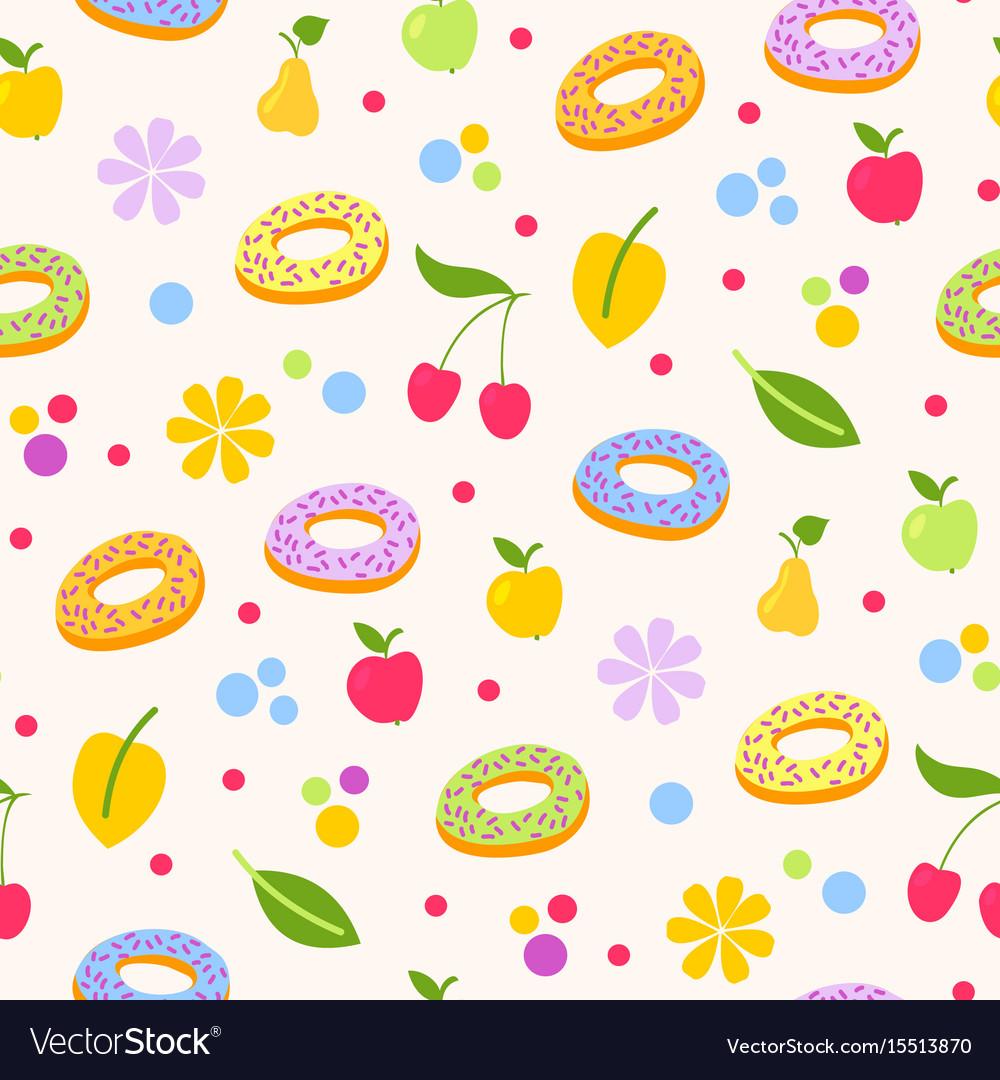 Donuts tasty coockie seeamless pattern