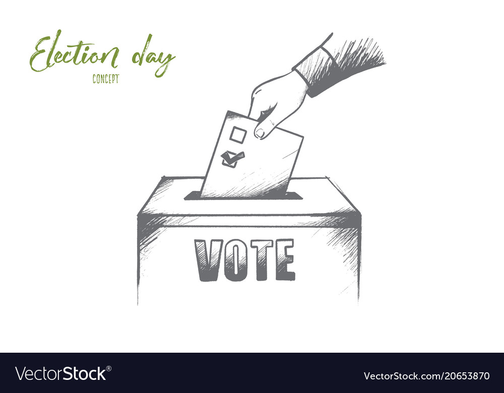 Election day concept hand drawn isolated