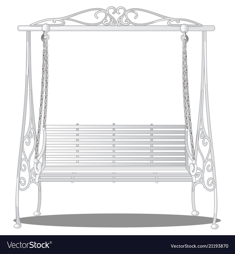 Incredible Exclusive Elegant Swing White In Vintage Style Theyellowbook Wood Chair Design Ideas Theyellowbookinfo