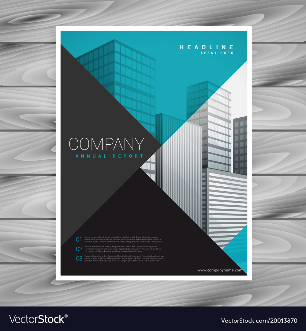 Minimal blue professional brochure template design vector image