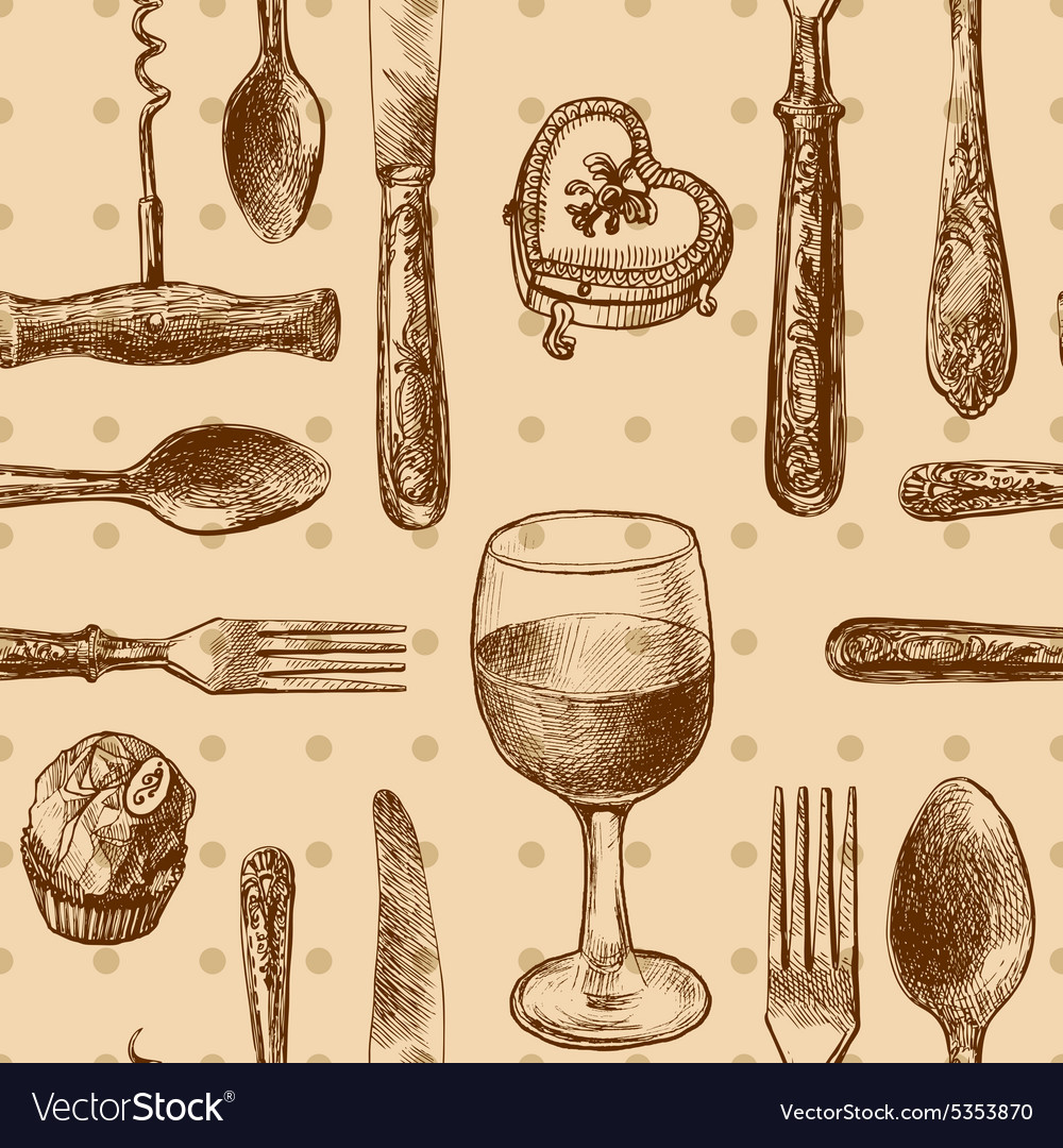Pattern with cutlery