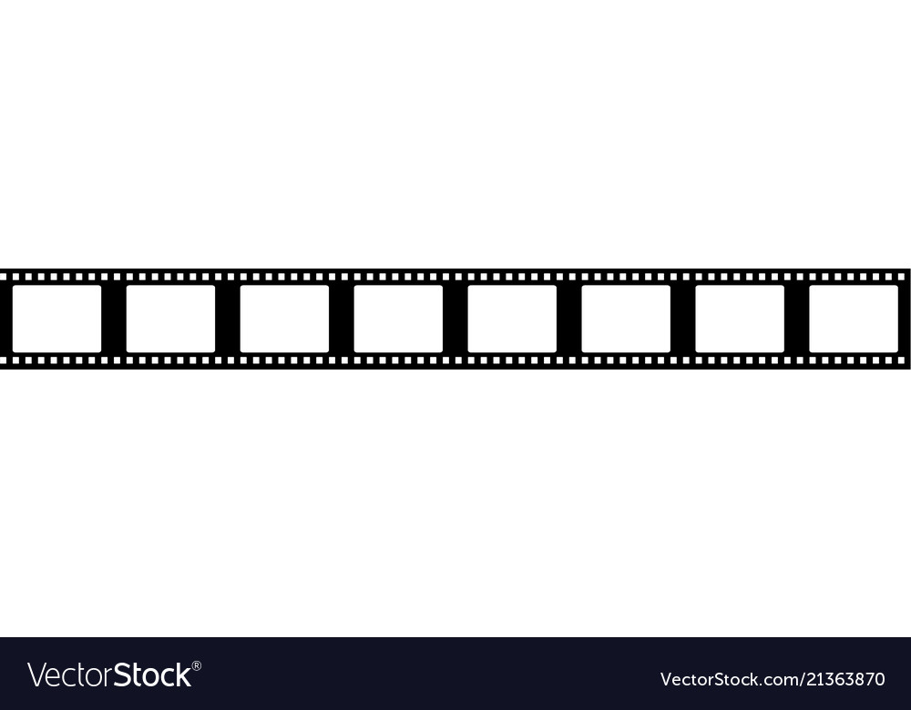 Seamless film strip frame Royalty Free Vector Image