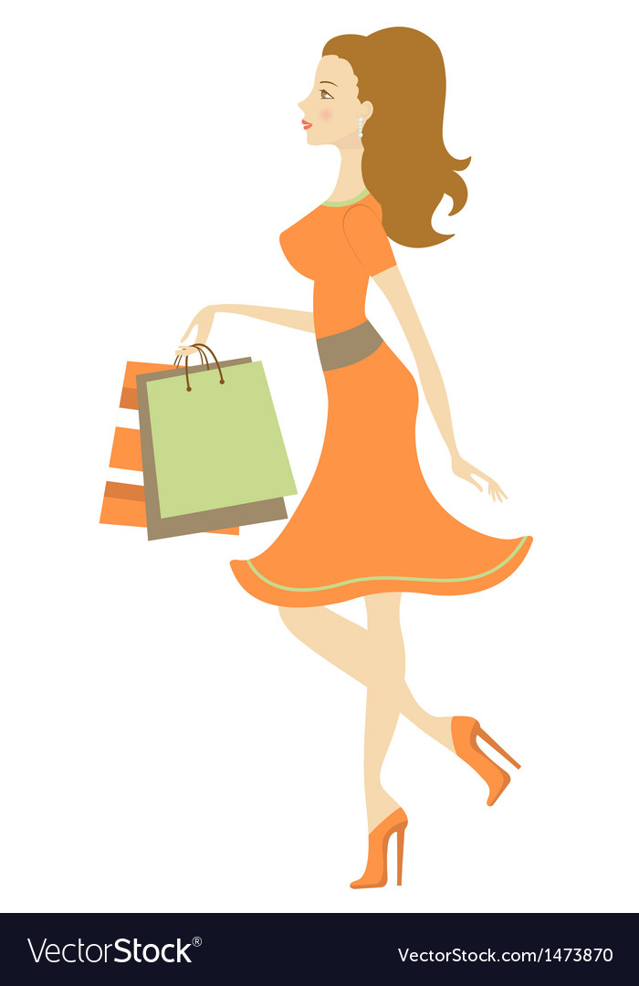 Shopping beauty vector image