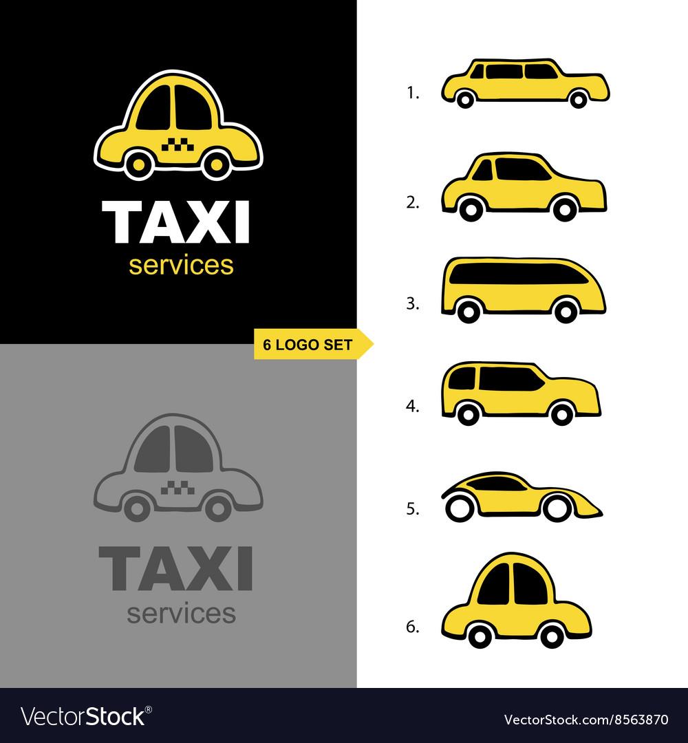 Taxi service logo set