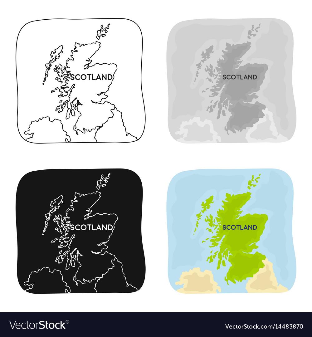 Territory of scotland icon in cartoon style