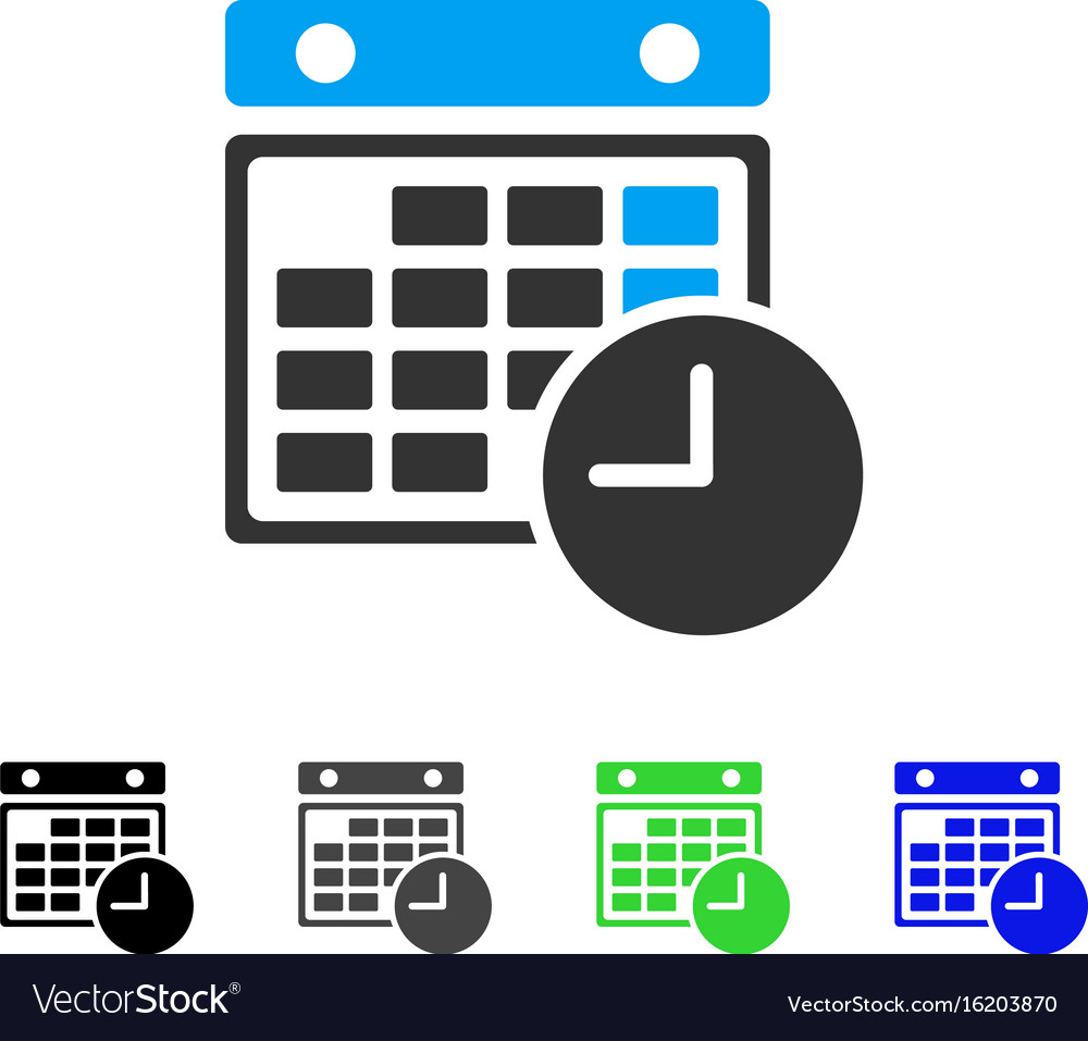 Time table flat icon vector image