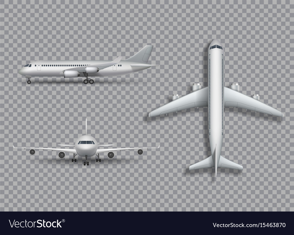 White airplane mock up isolated aircraft