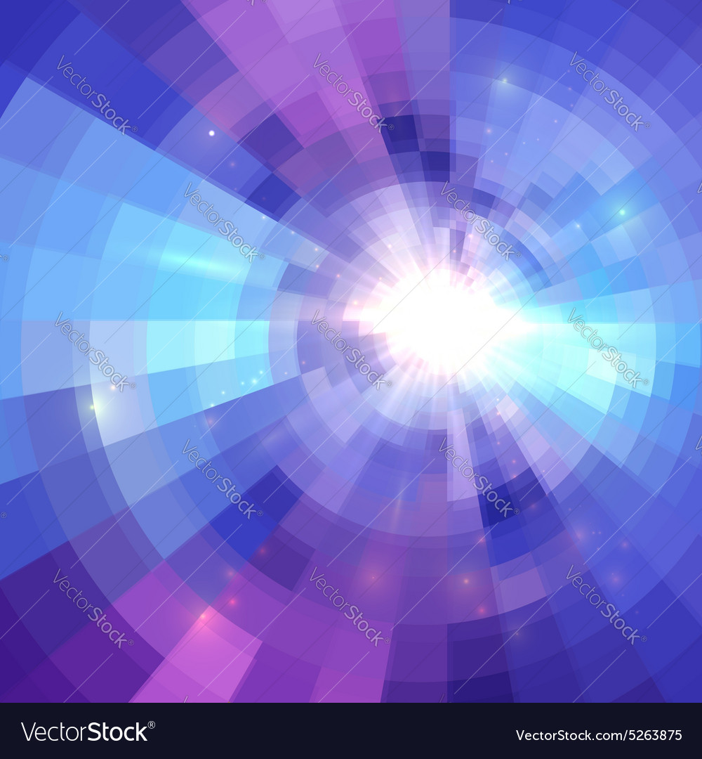 Abstract blue circle technology mosaic background