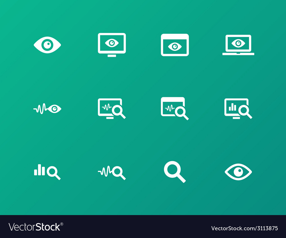 Monitoring icons on green background