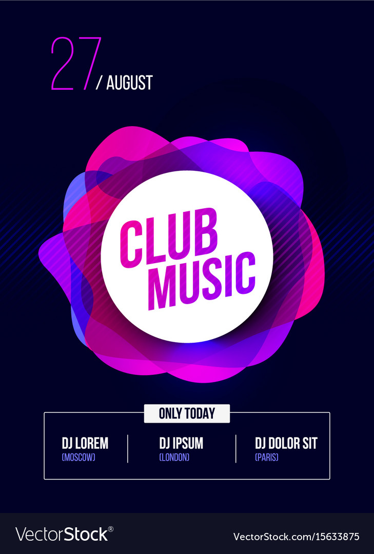 party flyer club music poster dj lineup royalty free vector