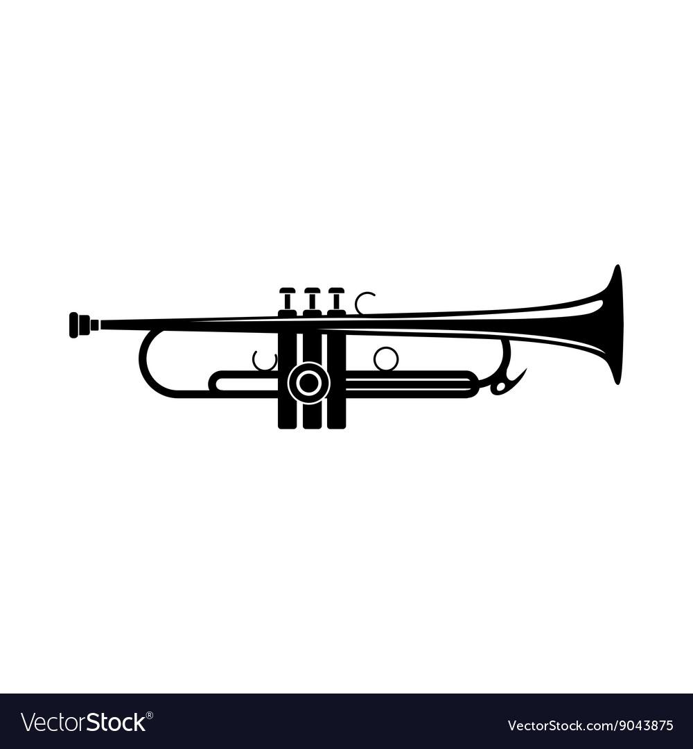 Trumpet icon black simple style