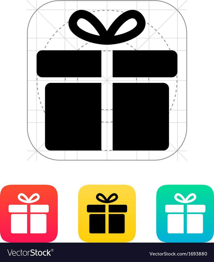 Big gift box icons on white background