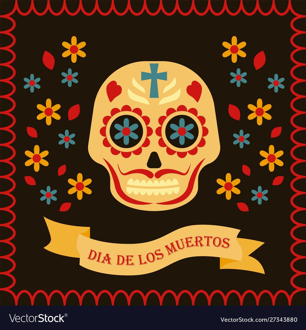 Day dead card dia de los muertos