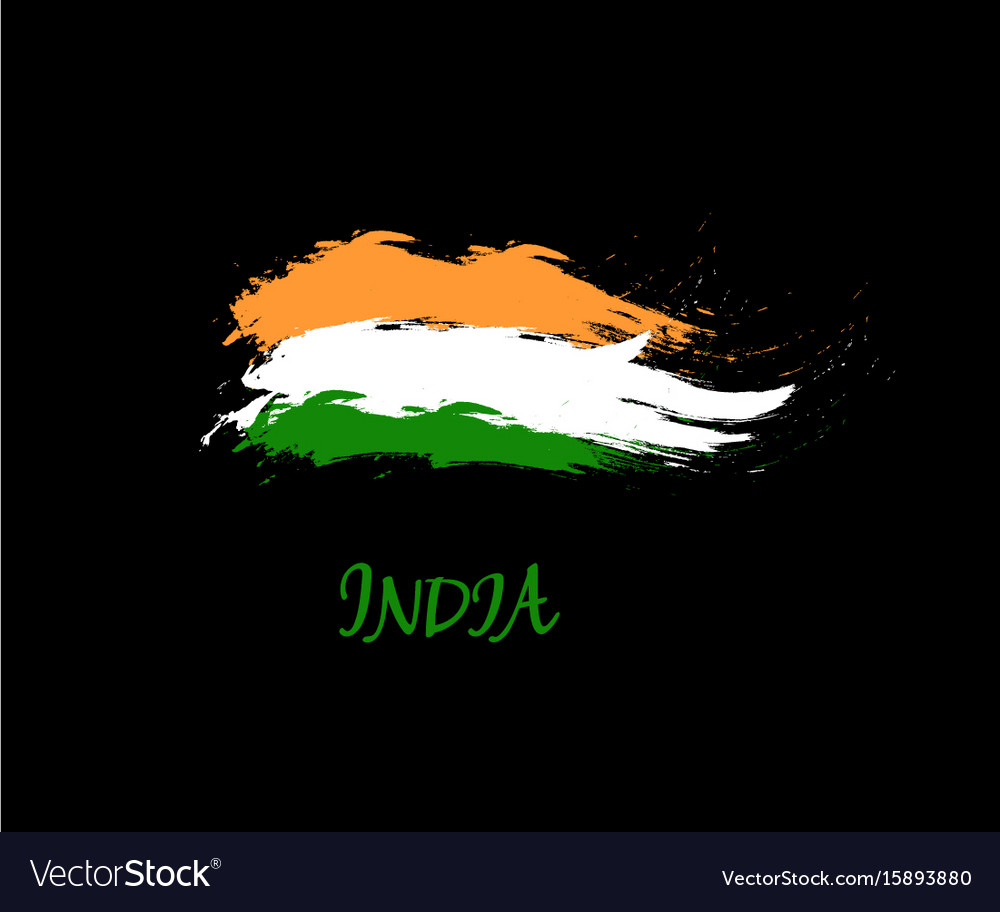 timeless design 08283 df20f Independence day of india hand drawn sign on black vector image