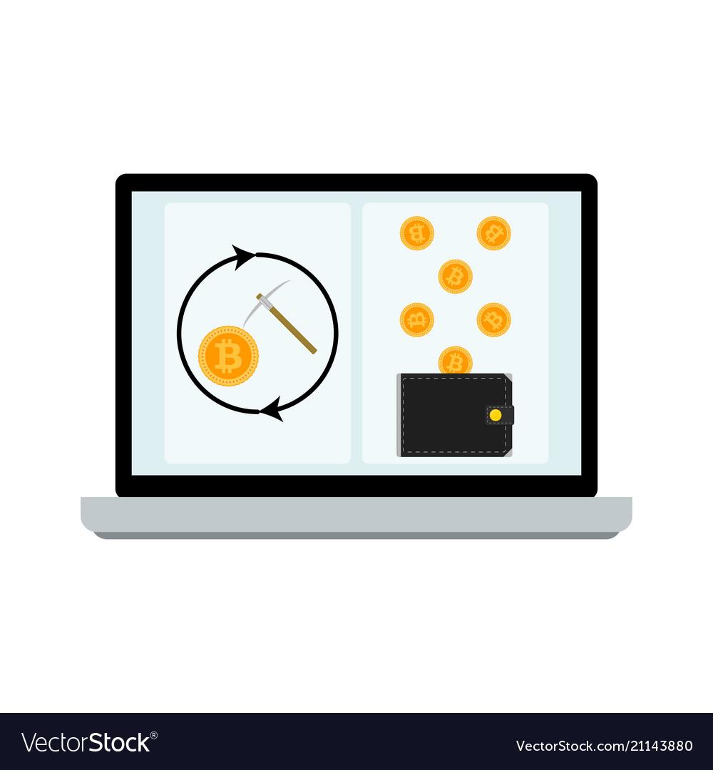 Mining laptop screen